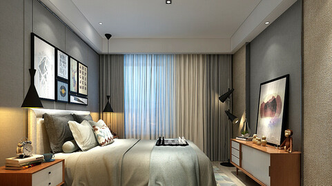 Stylish master bedroom design  42