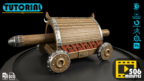Stylized medieval battering ram -Full Creation Process