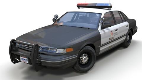 American 90s police car