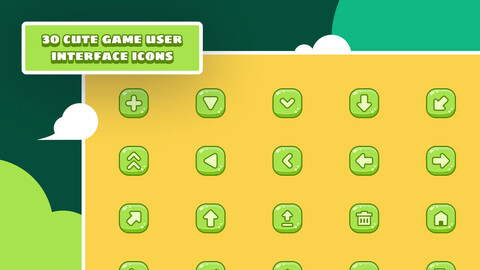 Cute Game User Interface Icons