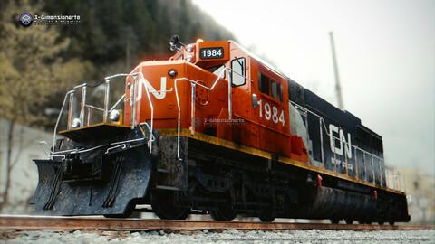 Locomotive EMD SD40-2 - Multitexture!
