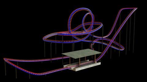 Rollercoaster 3D model