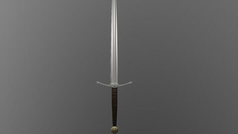 Basic Medieval Sword Low-Poly 3D model