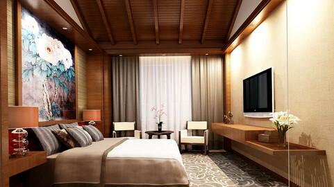 Luxurious stylish bedroom 32