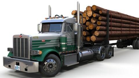 Peterbilt 379 log truck