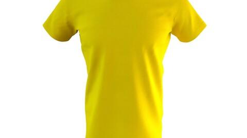 Round Neck Men's T-Shirt 3D Model