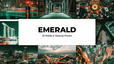 20 Emerald LUTs and Lightroom Presets