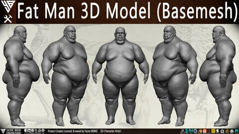Fat Man 3D Model (BaseMesh)