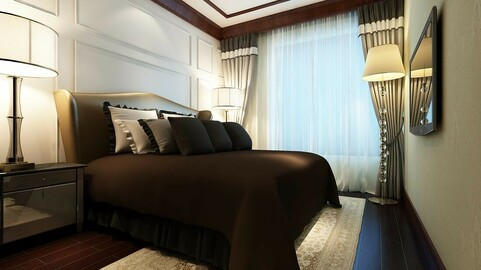 Luxury stylish interior master Bedroom - 90