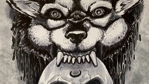 Wolf bites man