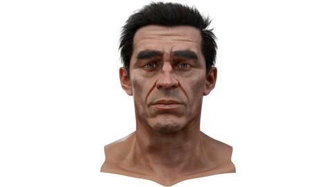 Sean Realistic model of male head