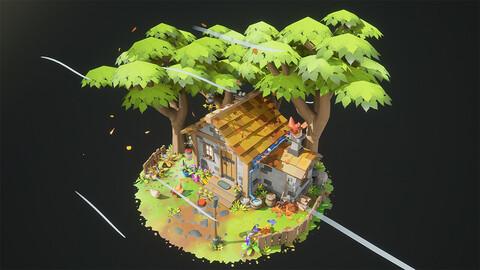 UE5 Stylized Diorama FarmHouse
