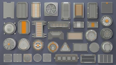 Industrial Kitbash-6 - 35 pieces