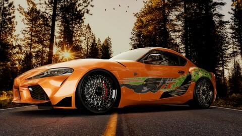 Toyota Supra MK5 3D Model