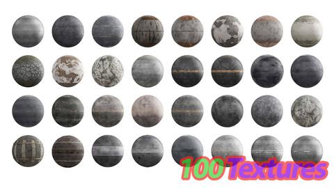 100 Roads 4K Seamless PBR Textures Texture