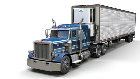 Peterbilt 359 refrigerated van trailer