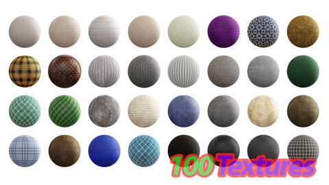 100 Fabric 4K Seamless PBR Textures Texture