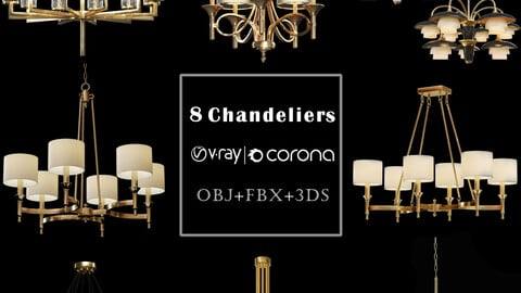 8 Chandeliers model
