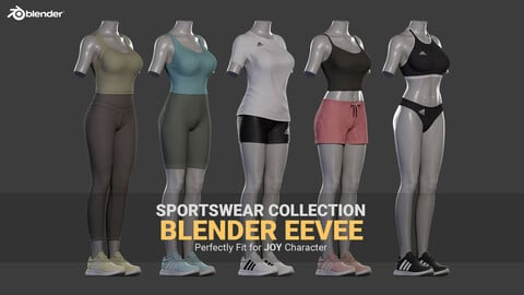 Sportswear Collection - Blender EEVEE