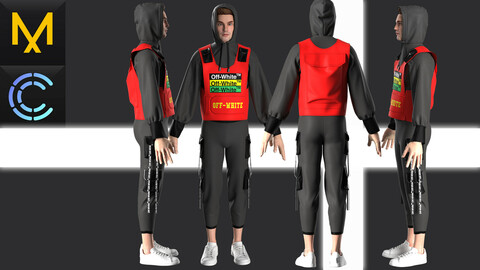 New concept Marvelous Clo3D  Waitscoat Off-white