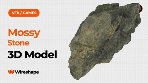 Mossy Stone Raw Scanned 3D Model