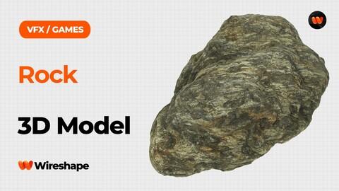 Rock Raw Scanned 3D Model