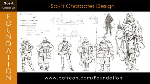 Foundation Art Group - Sci-Fi Character Design with Charles Lin