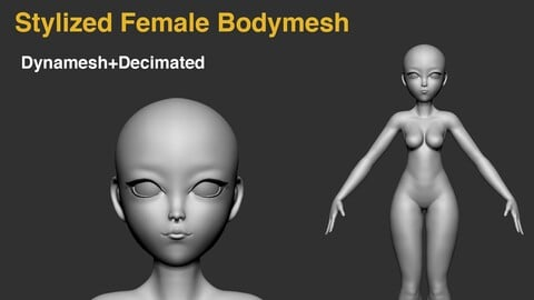Stylized Female Bodymesh