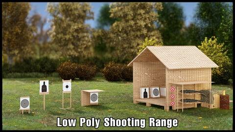 Low Poly Shooting Range Kitbash