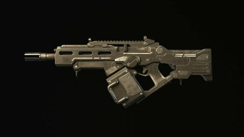 Rifle SciFi Game Ready - Oldrim
