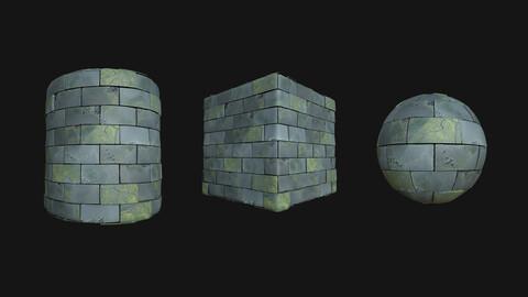 Stylized Wall 1 PBR Texture
