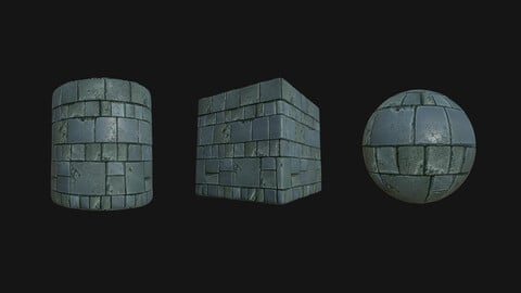 Stylized Wall 4 PBR Texture