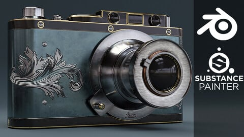 Create a Vintage Camera Prop in Blender and Substance Painter