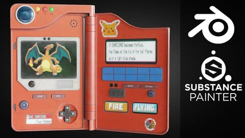 Creating a Pokedex from Start to Finish in Blender and Substance