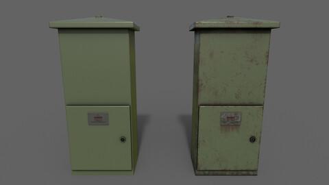 PBR Electric Box (DarkGreen) Ver.4