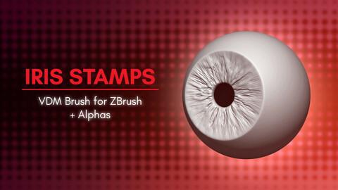 Iris Stamps VDM Brush for ZBrush 2021