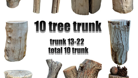 tree trunk pack total 10 tree trunks