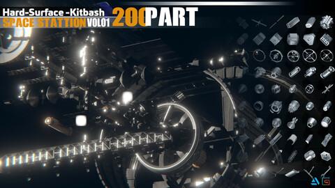 200 hardsurface SPACE STATION KITBASH VOL 01