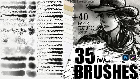 INK brushes + Paper textures