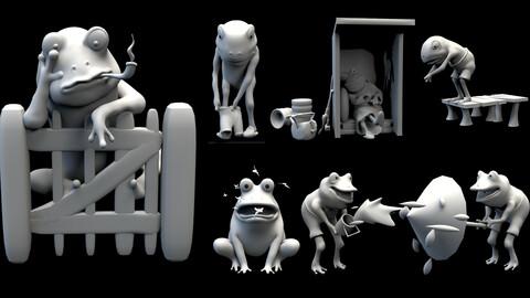 All 7 Frogs OBJ & ZTL