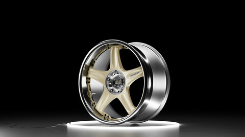 RAYS VOLK RACING GT-C Car wheel 3D model