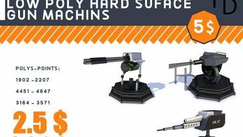 3D Weapon machines VR / AR / low-poly 3d model