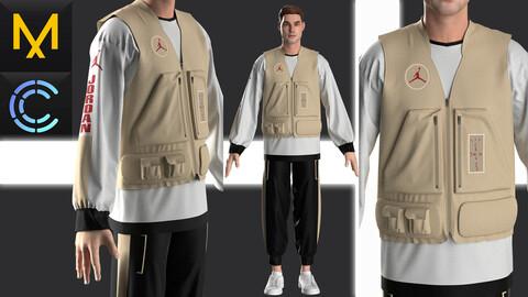 New concept Marvelous Clo3D Outfit Male Vest Air Jordan