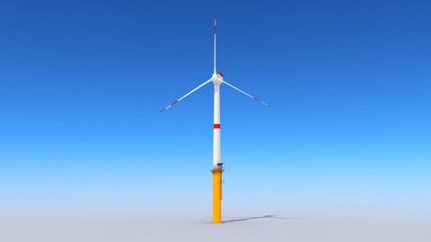 Wind Turbine Low-poly 3D model