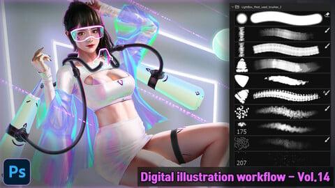 Digital Illustration workflow - Vol.14