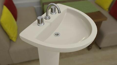 Bathroom Sink - Pia - Banheiro Low-poly 3D model
