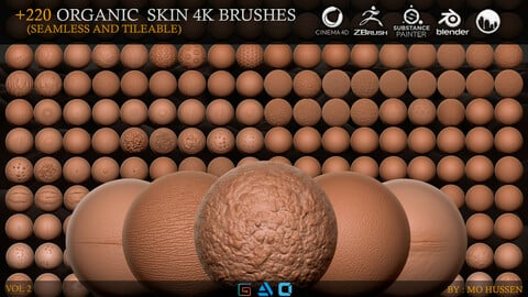 +220 4K Brushes Skin (Seamless and Tileable)