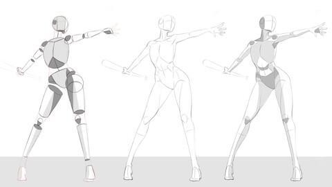 Basic Lineart Anatomy Tutorials