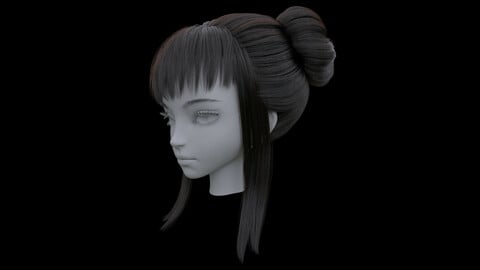 Oriental  Chinese style ancient  girl hair