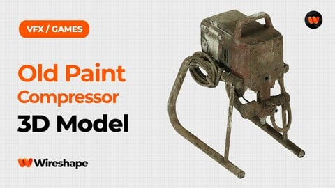 Old Paint Compressor Raw Scanned 3D Model